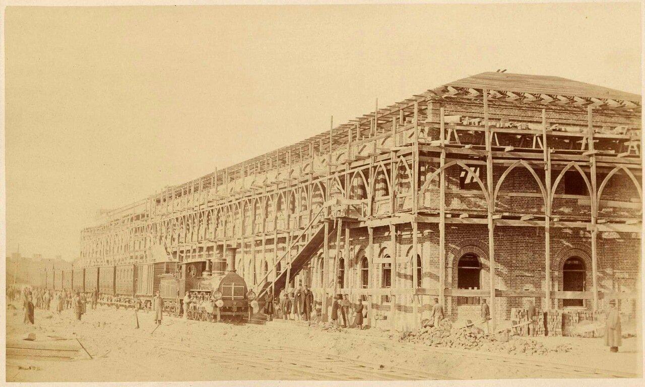 Строительство железнодорожной станции в Варшаве, 1868