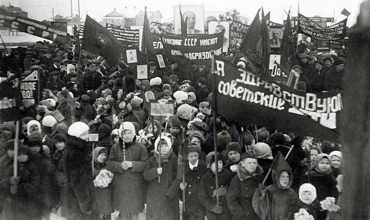 1937. Первомайская демонстрация в Нарьян-Маре. Ненецкий округ