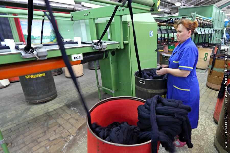 ровничная машина на камвольном производстве