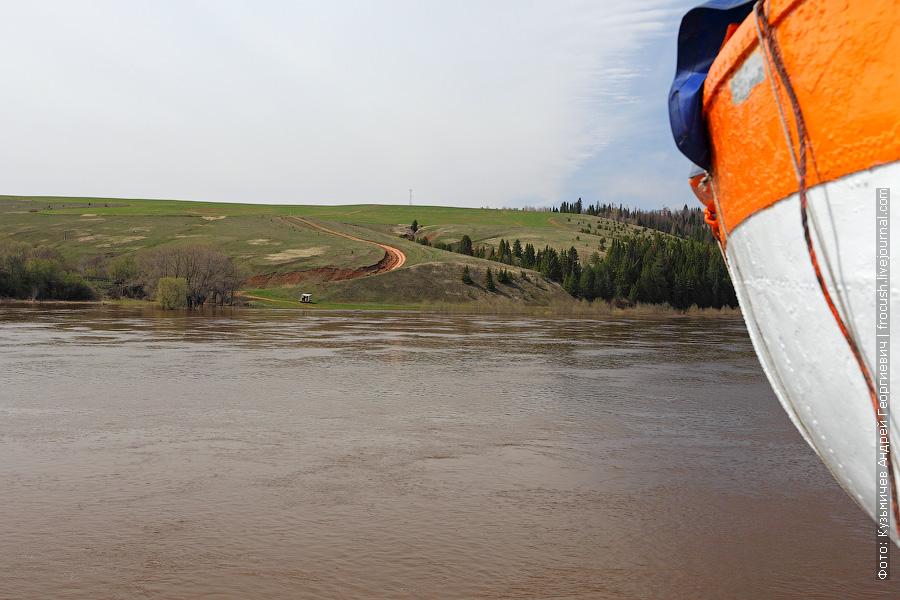 высокий берег реки Вятка