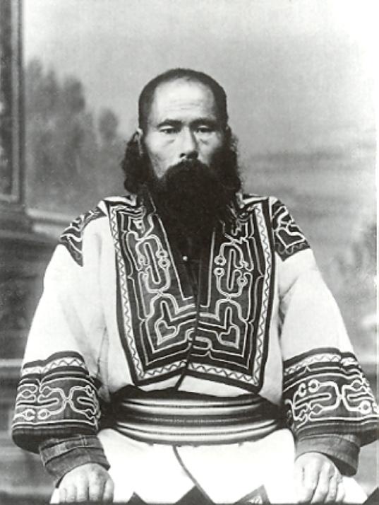 Portrait of an Ainu man from Sakhalin, c. 1905. Photo by Bronislaw Pilsudski