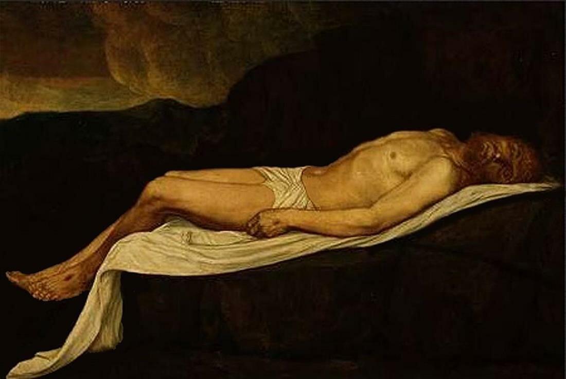 Мёртвый Христос, Легро Альфонс(1837-1911)