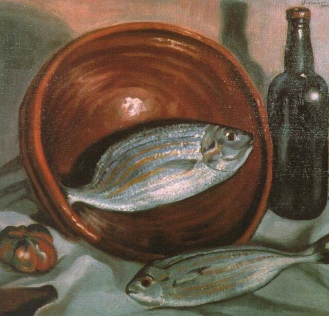 Рыба с красной чашей, 1923-1924, Сальватор Дали