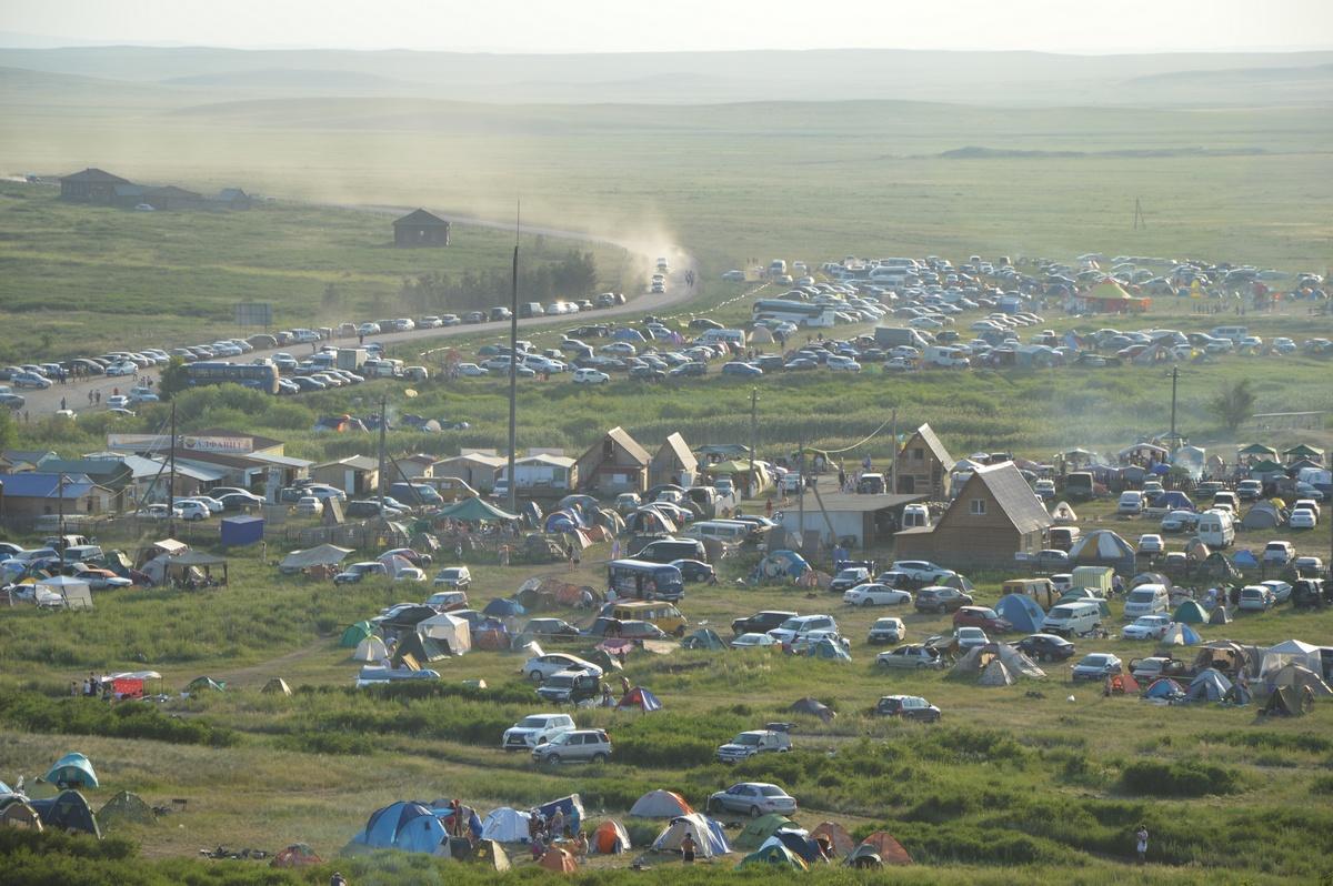 Палаточный лагерь наАркаиме