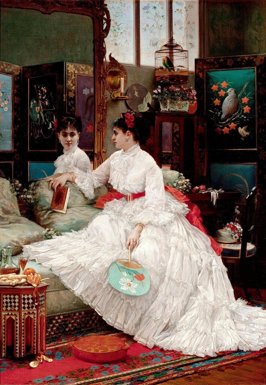Jules Emile Santin (1829-1894) - Размышления - Reflections, 1875