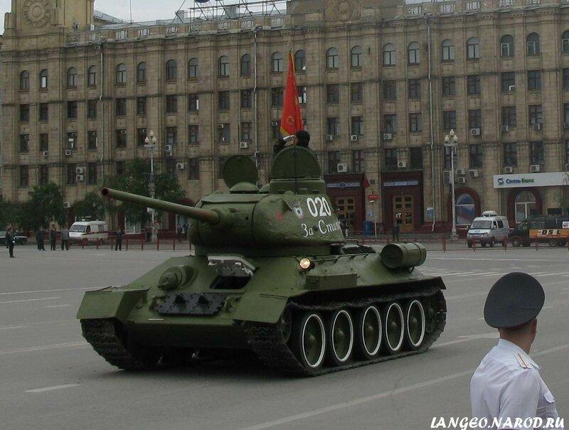 На параде в Волгограде
