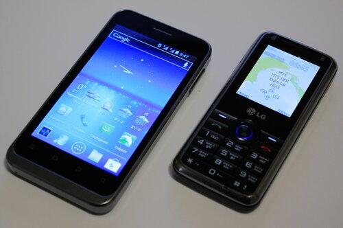 ZTE V880E и LG GX200