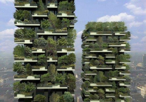 Зеленые дома с вертикальным лесом