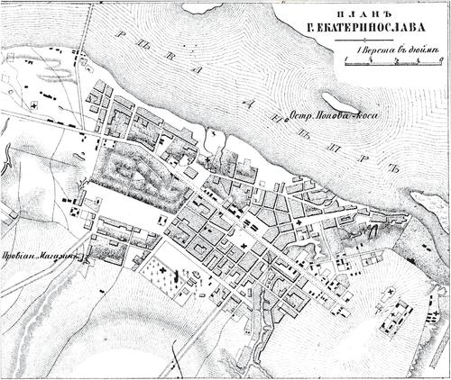 Генплан города Днепропетровска на 1876 год