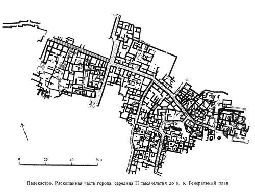Палекастро, генплан раскопанной части города