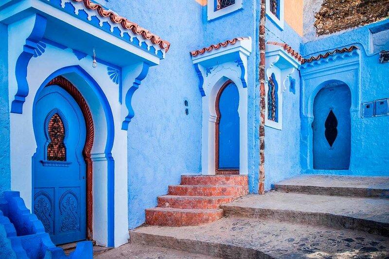 Шефшауэн, полностью голубой город в Марокко, покрашенный евреями