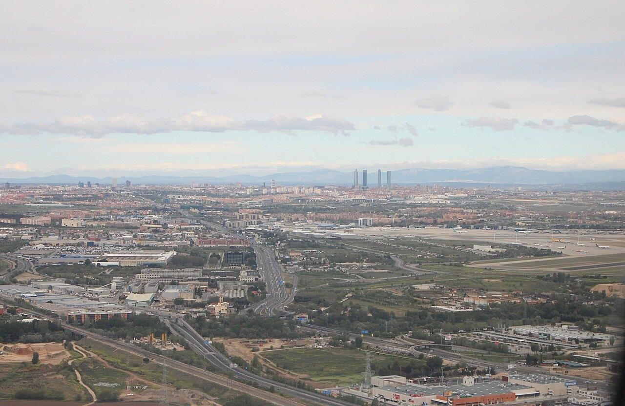 Мадрид с борта самолета. Madrid from flight's board