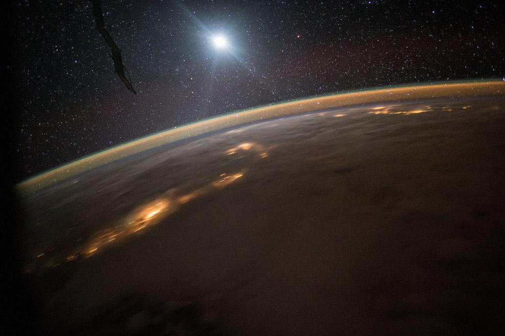 14. Ночное небо, МКС и Млечный путь, 13 сентября 2014 года