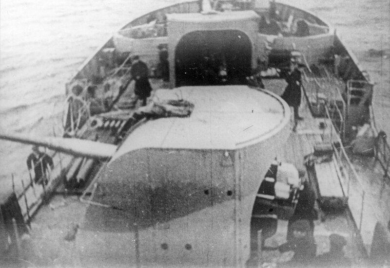 Орудия главного калибра 100-мм корабельные пушки обр. 1940 года (Б-34) канонерской лодки Ладожской военной флотилии «Бира» (тип «Амгунь»)