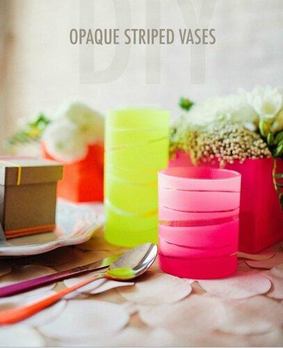 Полоски на вазах и стаканах