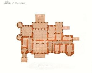 Усадебный дом в Степановском-Павлищеве.План 1-ого этажа