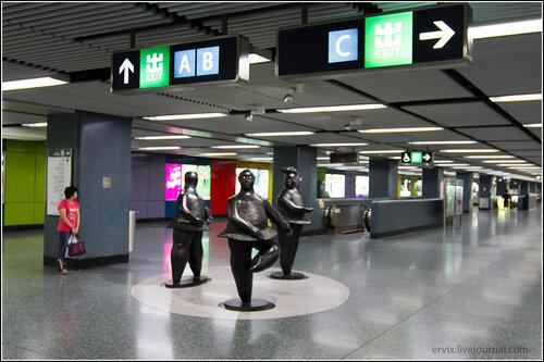 Скульптуры в метро