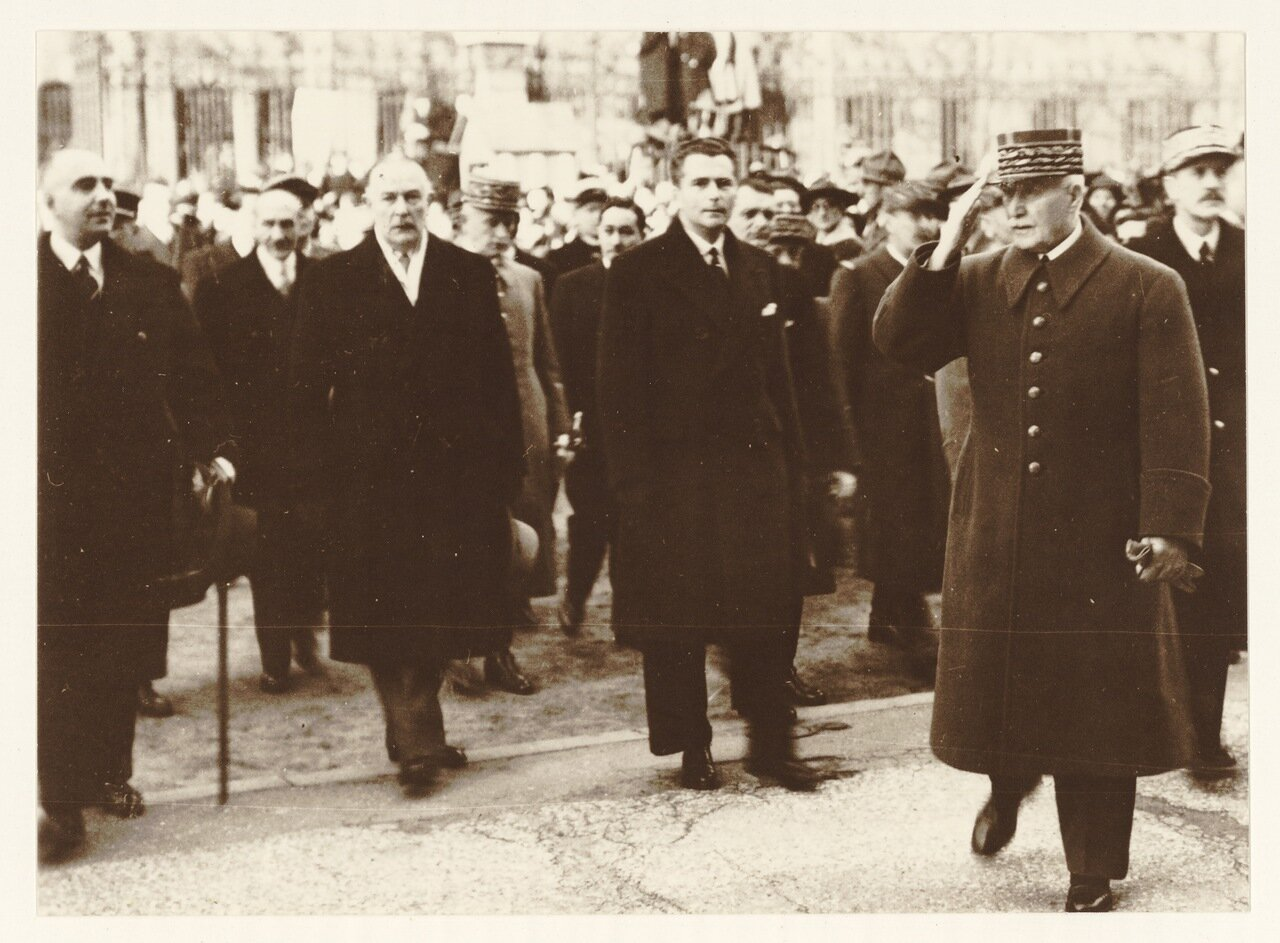 1940. Маршал Петен в Лионе в ноябре 1940