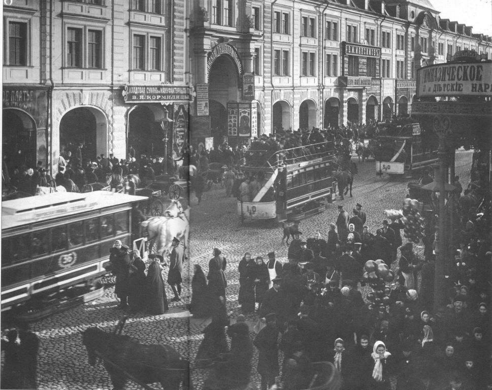 Конка на Садовой улице.
