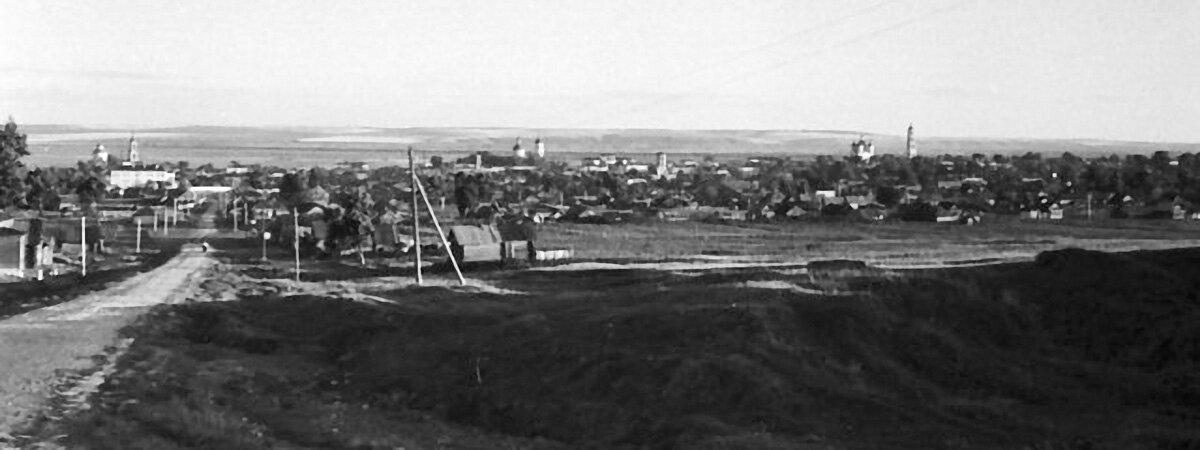 Панорама Елабуги со стороны Петропавловского кладбища.