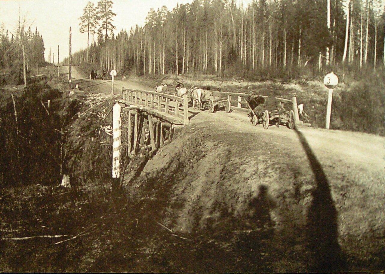Гравийная дорога на границе Ижевского района.