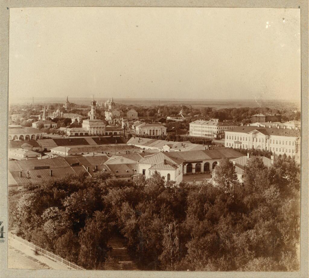 Кострома. Вид с колокольни собора. 1910.