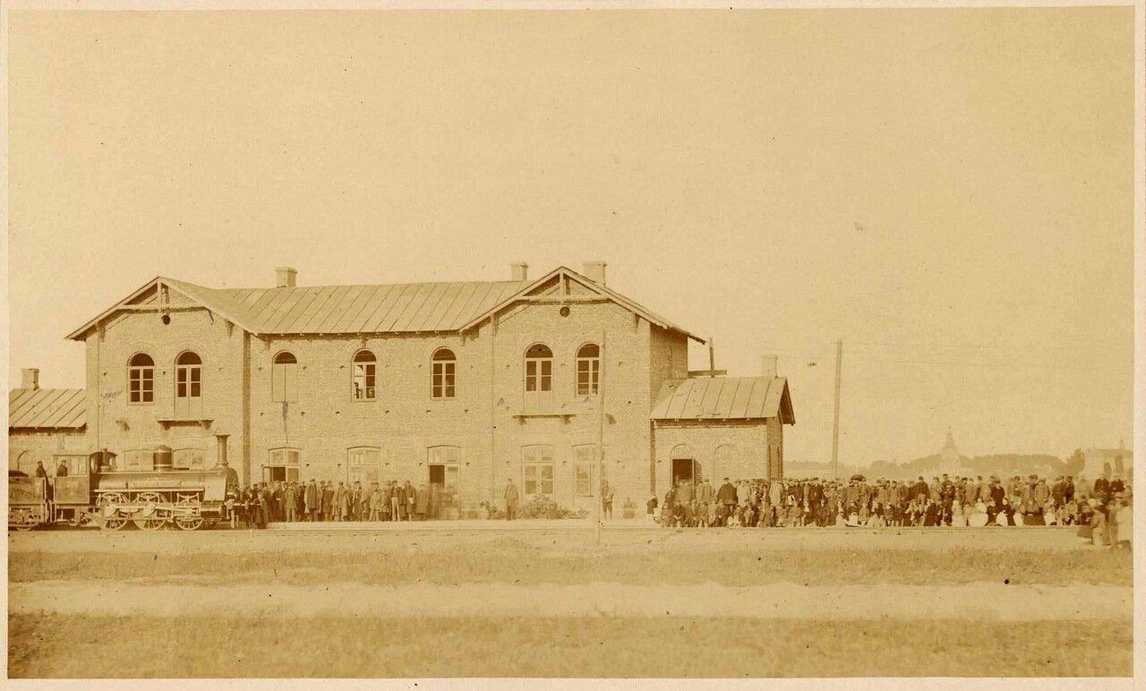 Открытие железнодорожного вокзала в городе Седльце. 1866