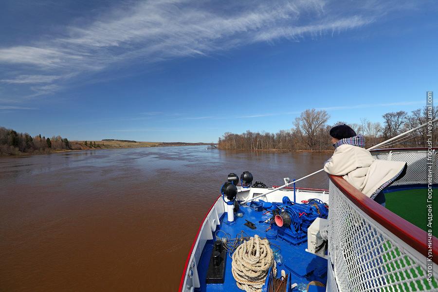 извилистая река Вятка