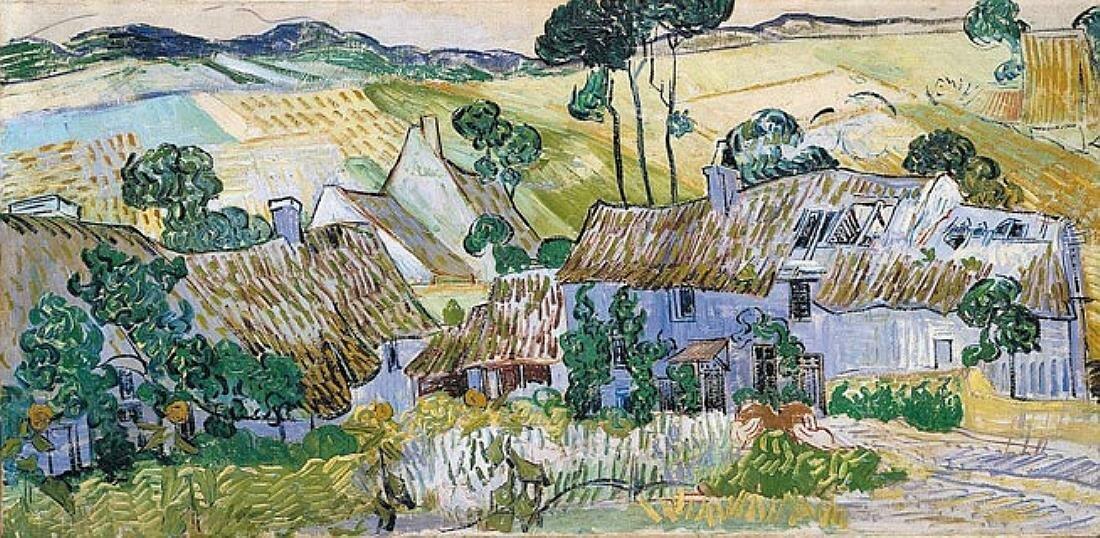 Фермы в Овере, 1890, июнь, за месяц до смерти, Ван Гог (1853-1890)