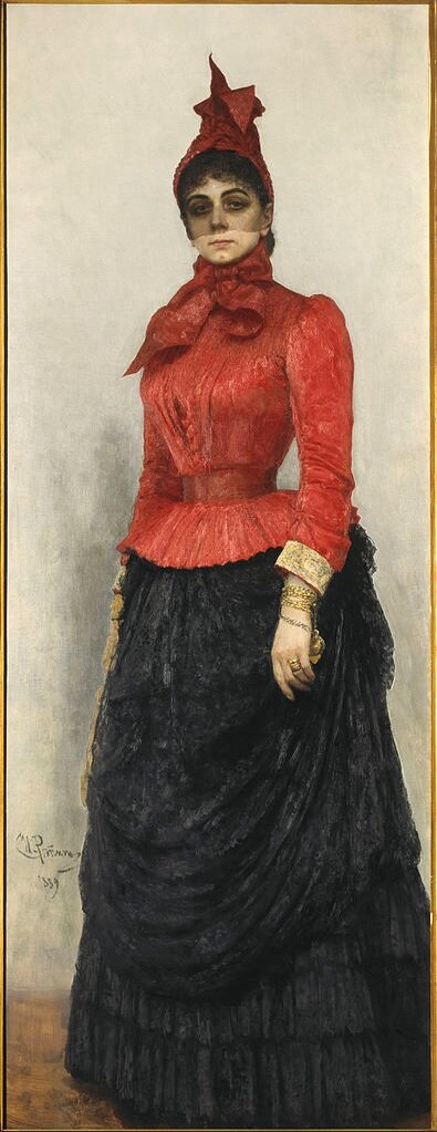 Портрет баронессы Варвары Ивановны Икскуль фон Гильденбандт, 1889 Репин И. Е., масло, ГТГ