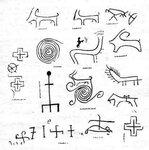 Прорисовка изображений крест - звезды, спиралей и драконов - символическое изображение звезды - кометы. Хуштадинские солярные знаки. Дагестан..jpg