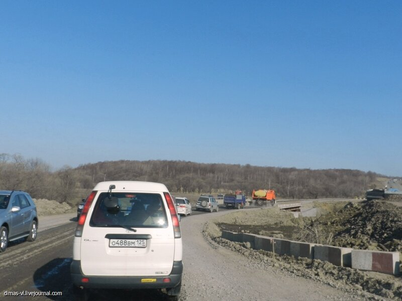 Реконструкция трассы М60 под Уссурийском. 20-апреля-2013г