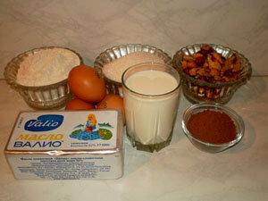 Продукты для коржей Киевского торта