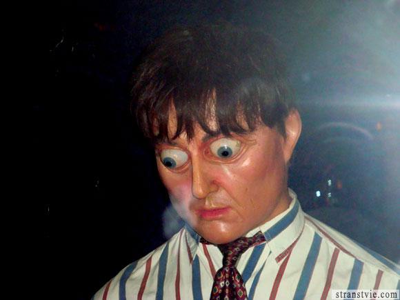 Человек с выпученными глазами