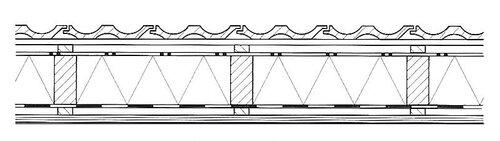 Конструкции с утеплителем между несущей конструкцией с одним вентиляционным зазором