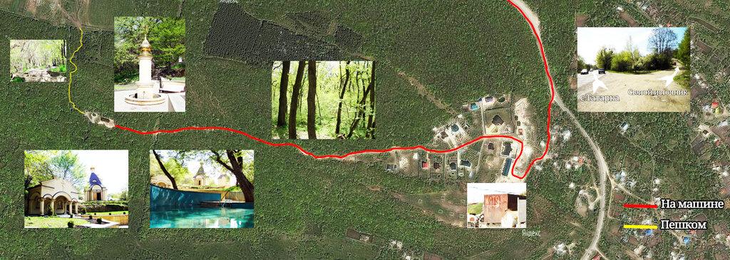 Карта проезда к святому источнику в с.Татарка