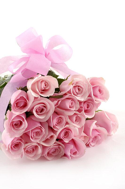 Поздравления с днем рождения букет розовых роз
