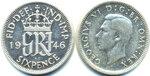 Англия,Великобритания, 6 пенсов, 1946 год.jpg