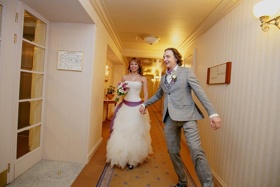 Свадьба была в русском стиле в