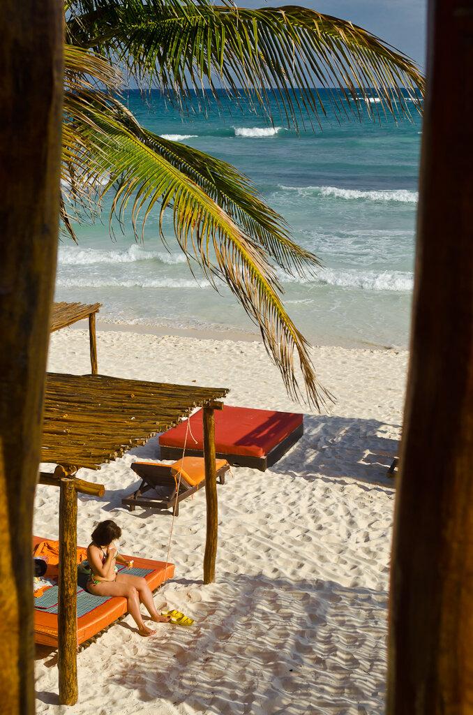 Отдых на берегу Карибского моря в Тулуме. Мексика
