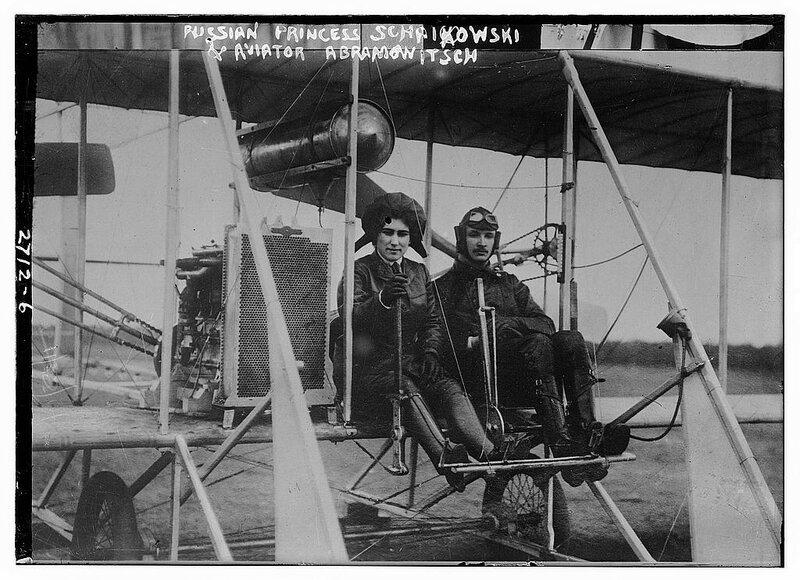Russian Princess Schaikowski [and] Aviator Abramowitsch.