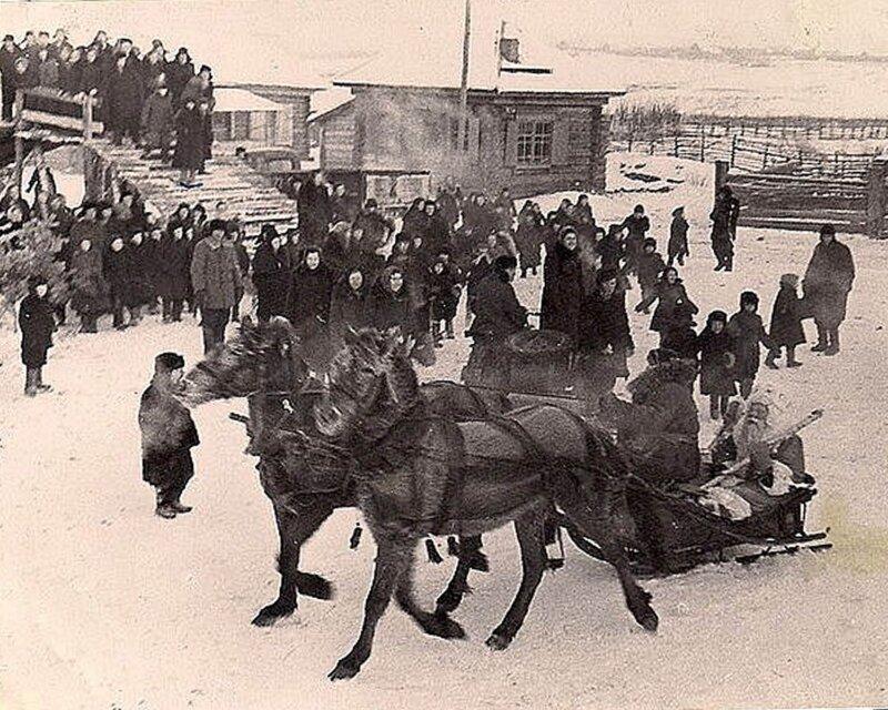 Встреча Нового 1961 года в селе Старая Кома