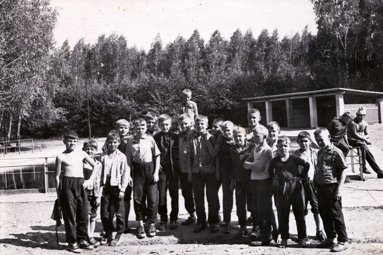 1966. Омская обл. Пионерлагерь Березка (с бассейном).
