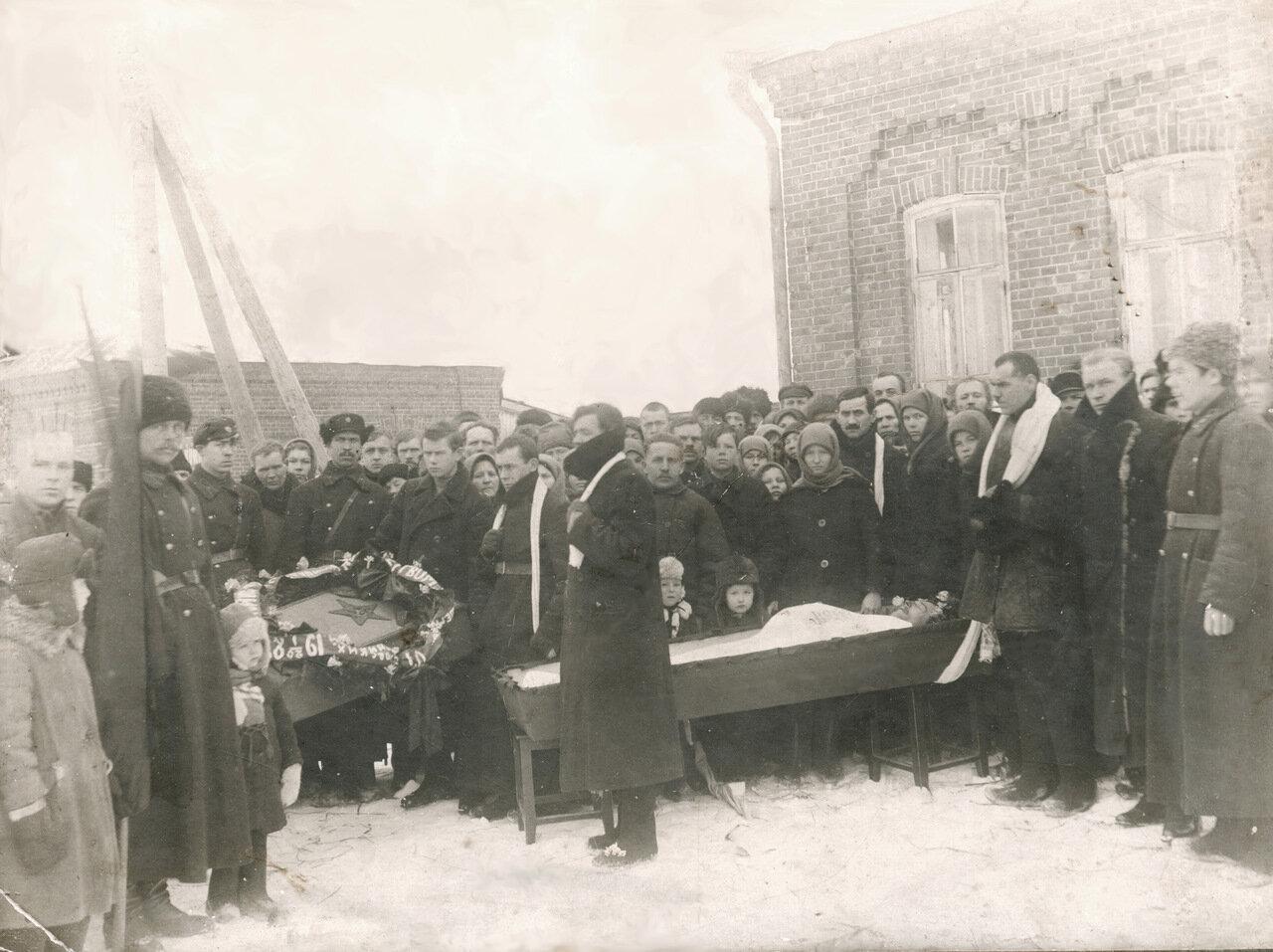 Пермская губерния, 20 годы. Похороны чекиста