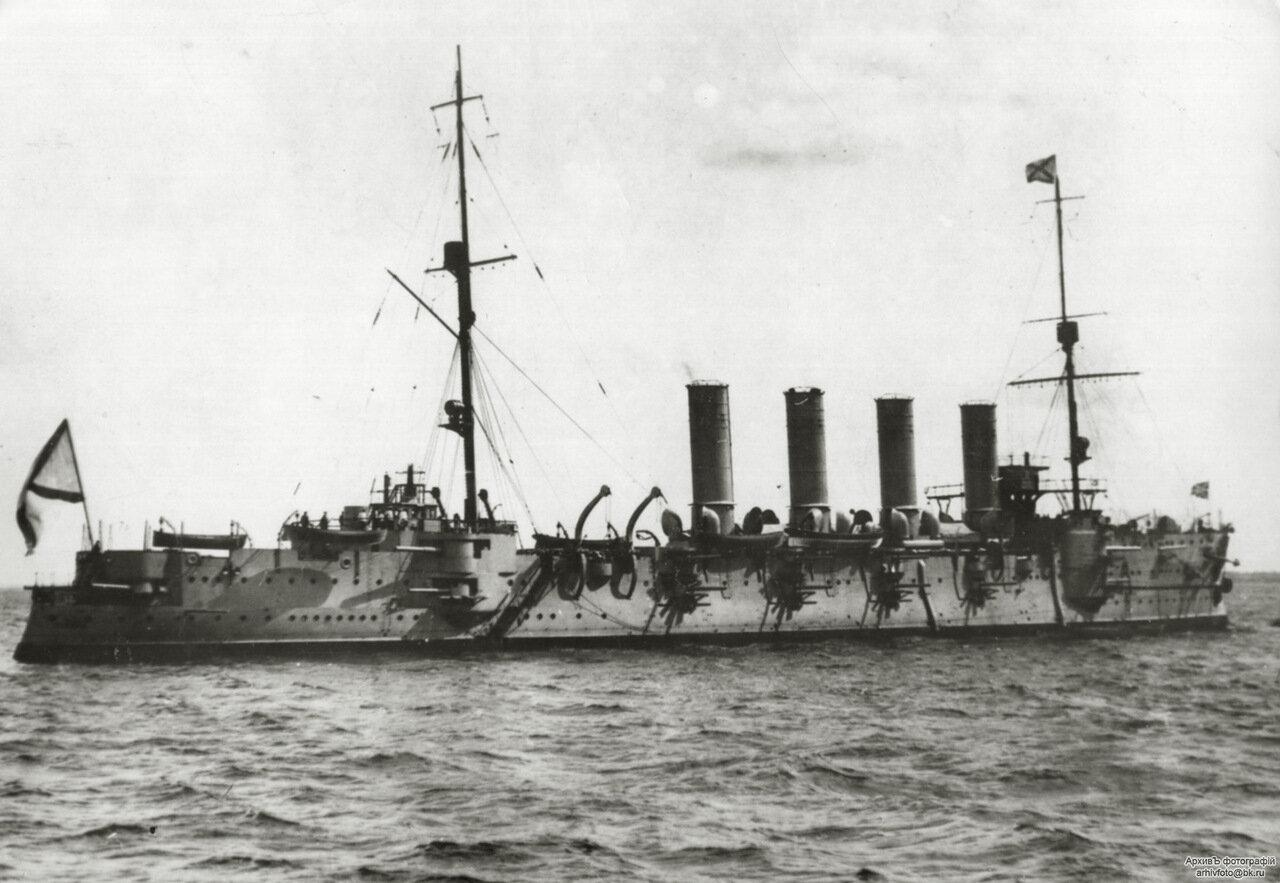 Броненосный крейсер Громобой на Балтике.