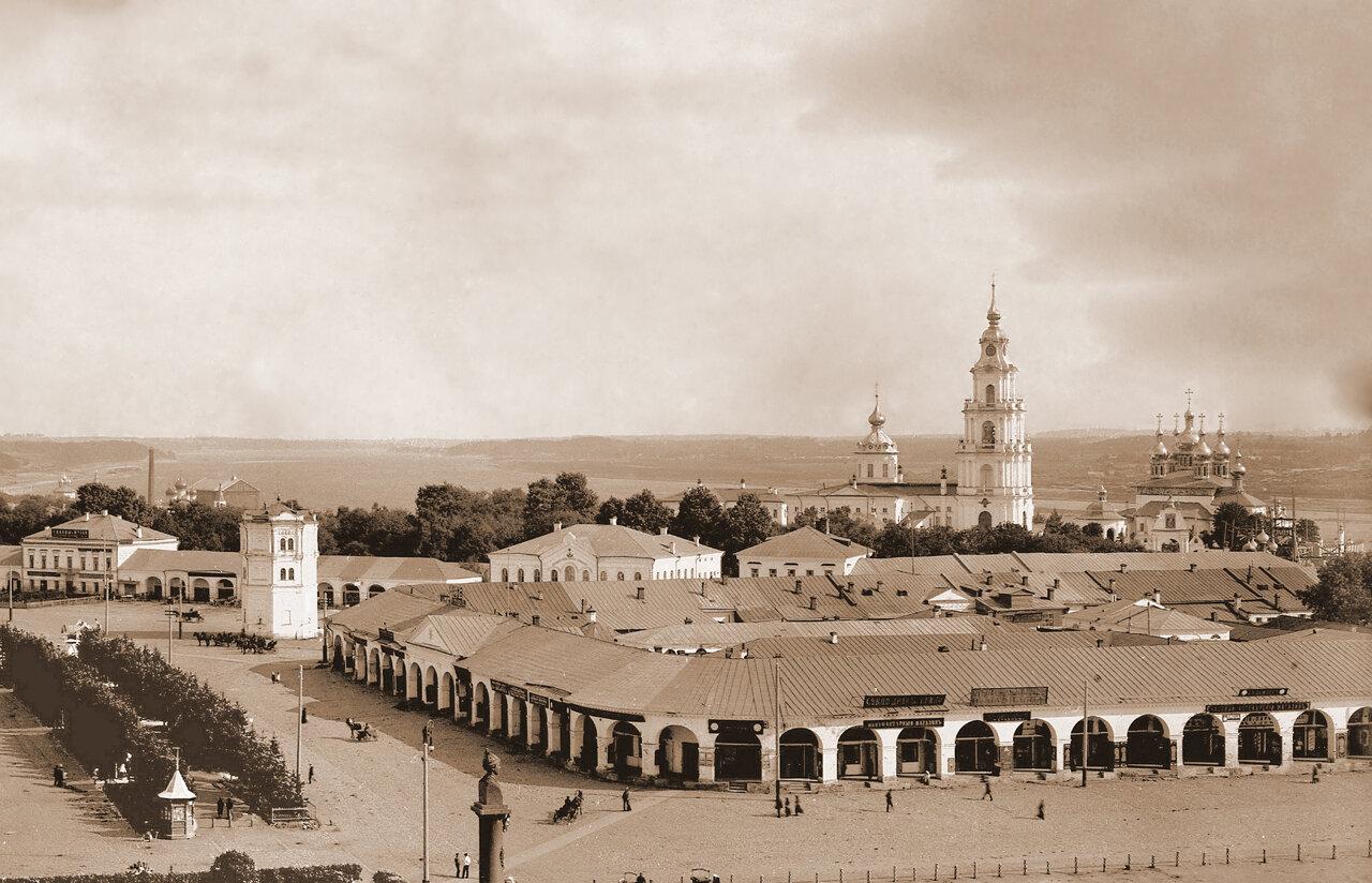 Вид с пожарного депо 1913 г.