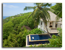 Сейшелы. О. Маэ. Banyan Tree Seychelles. GuestRoom_IntendancePoolVilla_villa overall horizontal