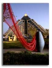 ОАЭ. Дубаи. Raffles Dubai. Raffles Dubai - View from Raffles Botanical Garden