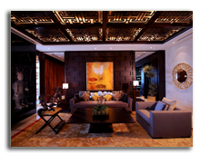 ОАЭ. Дубаи. Raffles Dubai. Asian Royal Suite - Living Room