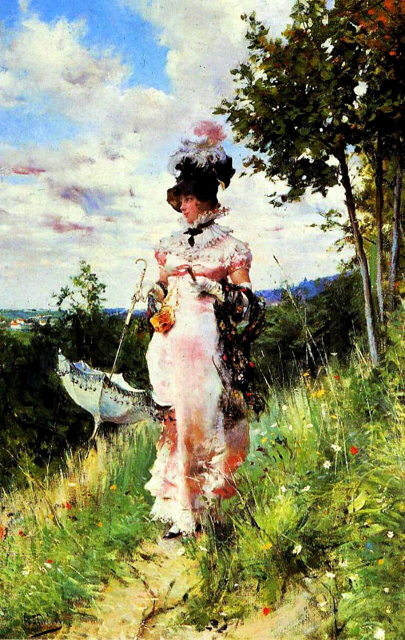 Giovanni Boldini (1842-1931) - The Summer Stroll